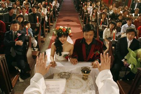 wedding at catholic patriotic church