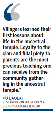 Age of restoration for ancestral temples