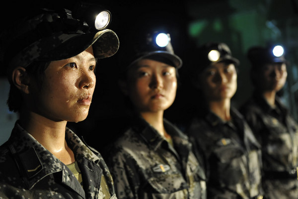 Female soldiers march into history