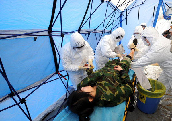 Nuclear aid drill in E China