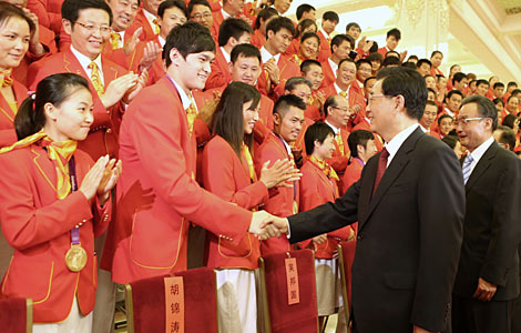 Chinese Olympic athletes honored in Beijing