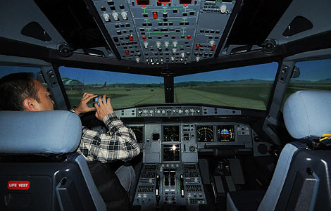 Simulator to support A320neo commissioned - China - Chinadaily com cn
