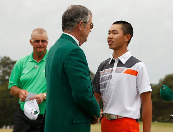 Chinese golfer tees off young career