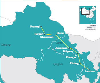 Xinjiang gets up to speed