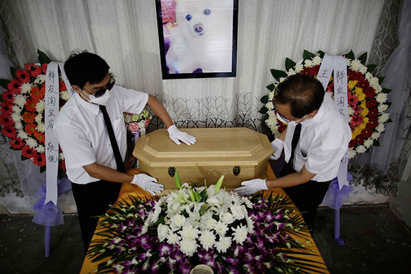 Funeral services for animals seek official recognition