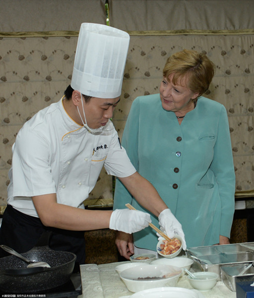 Merkel's lighthearted moments in China