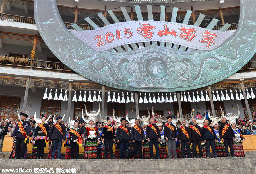 Miao ethnic group celebrates new year in SW China
