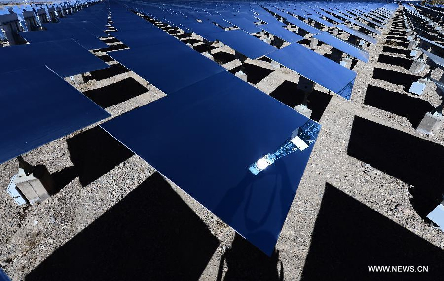 Solar power station in NW China's Qinghai