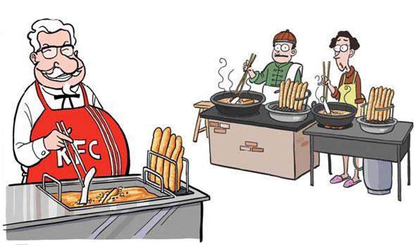 Menu localization for Western food chains