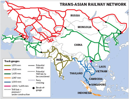 Rail dream still on track to unite continents