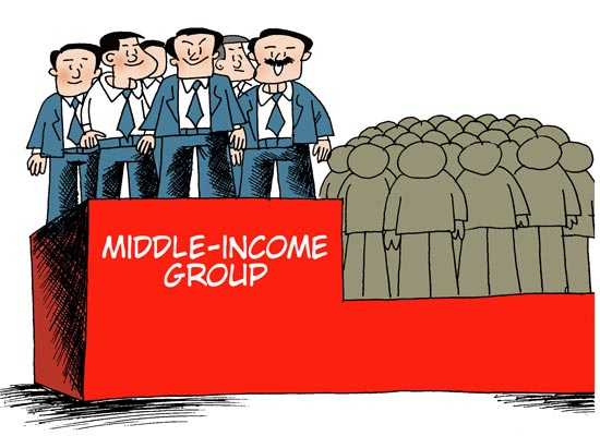 Middle income group grows   Economy   chinad