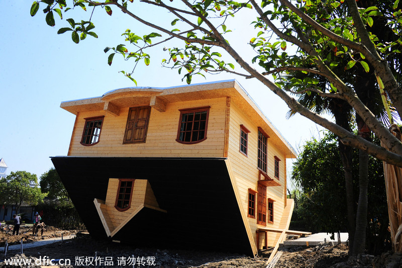 Upside down house top attraction[1]- Chinadail