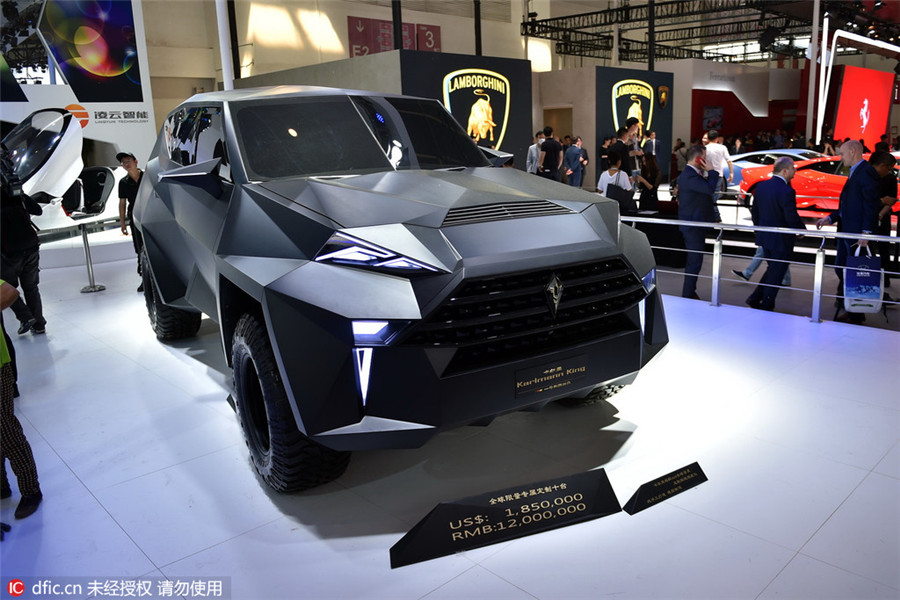 Top Luxury Cars At Beijing Auto Show Chinadailycomcn - Automotive show