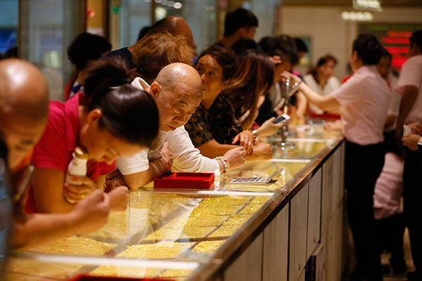 Gold investment rebounding in China