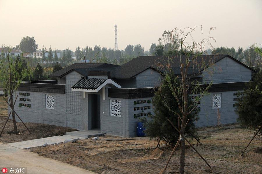 Village in Shandong unveils 3D-printed villas