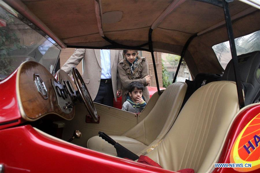 7th Vintage Classic Car Rally held in Pakistan's Peshawar