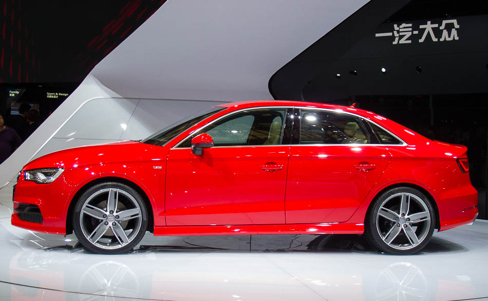 audi a3 sedan world premiere at shanghai auto show 2013 3. Black Bedroom Furniture Sets. Home Design Ideas