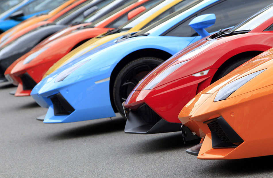 Lamborghinis line-up tour Italy for 50th anniversary[3] chinadaily ...