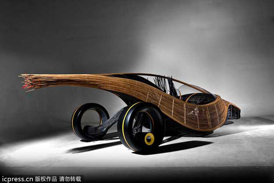 bamboo concept car combats waste