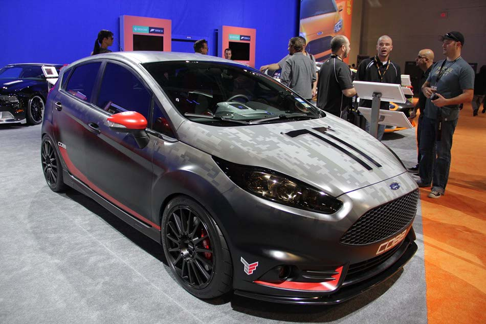 ford fiesta st modified by cobb at sema show 2. Black Bedroom Furniture Sets. Home Design Ideas