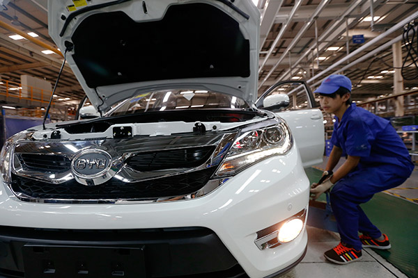 BYD expects lower 2017 profit on stiff competition