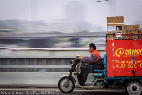 China's courier services expand overseas[1]