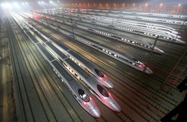 Trains in Wuhan, Central China's Hubei province get ready for the operation [Photo/Xinhua]