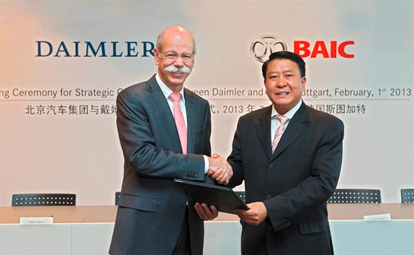 Daimler revs up with key stake in BAIC