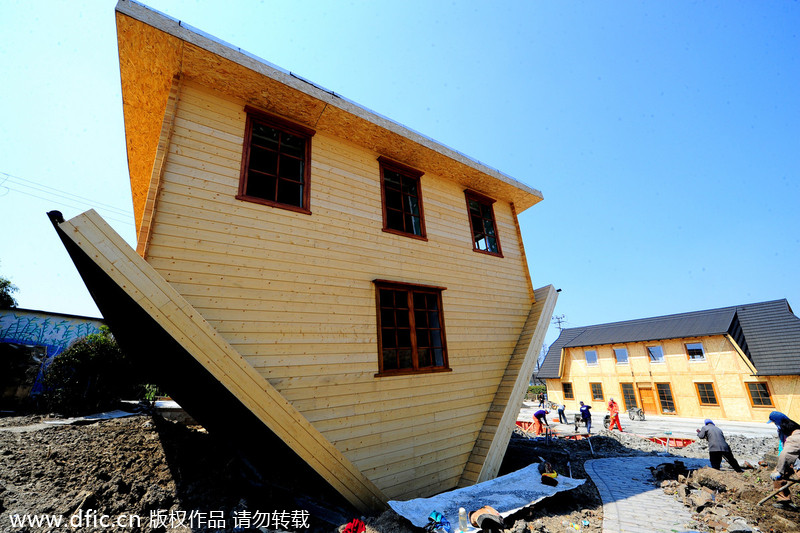 Upside down house top attraction[4]- Chinadail