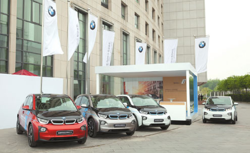 BMW's electric car environmentally friendly inside and out