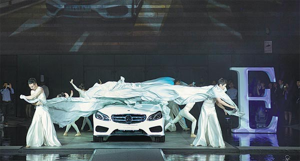 New E-Class Mercedes-Benz unveiled in Xi'an