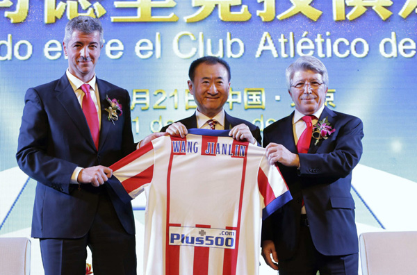 Dalian Wanda shows that it is on the ball