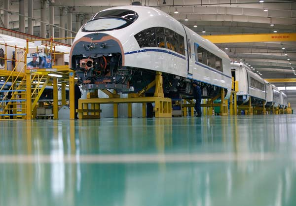 High-speed trains steer to overseas destinations