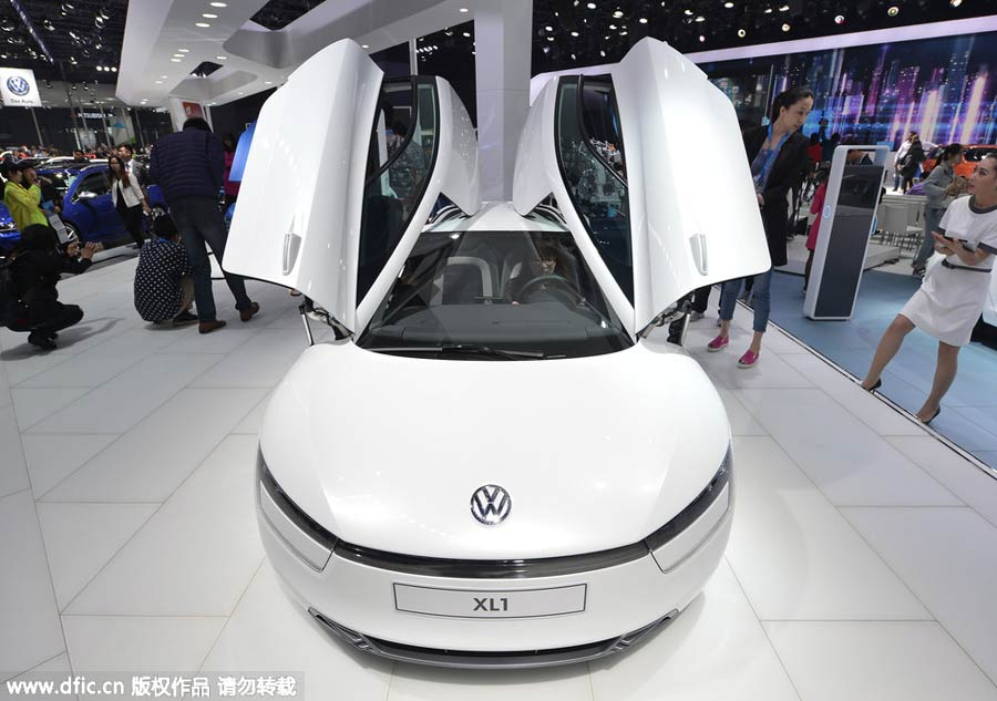 New-energy cars power up Shanghai auto show