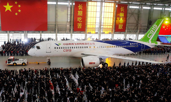 C919 passenger jet ready to lift Chinese aviation industry ...