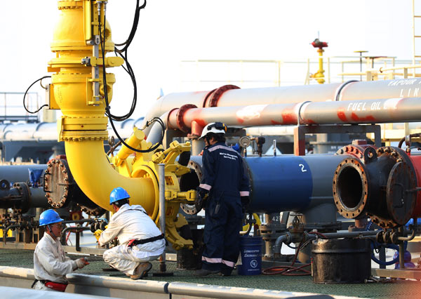 56495c86b5657 Oil starts flowing through China-Myanmar pipeline - Business ...