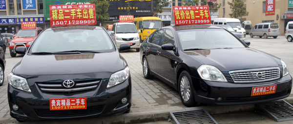 sales of secondhand cars accelerate lift retail sales