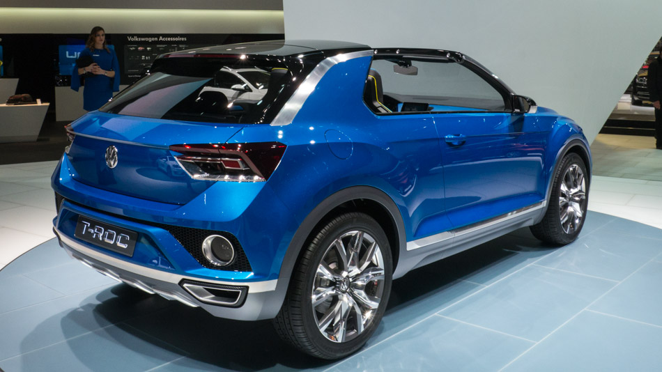 vw t roc concept world premiere at geneva motor show 4. Black Bedroom Furniture Sets. Home Design Ideas