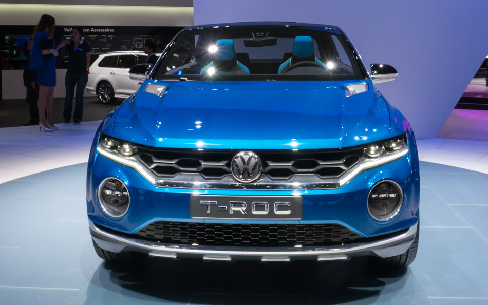 vw t roc concept world premiere at geneva motor show 1. Black Bedroom Furniture Sets. Home Design Ideas