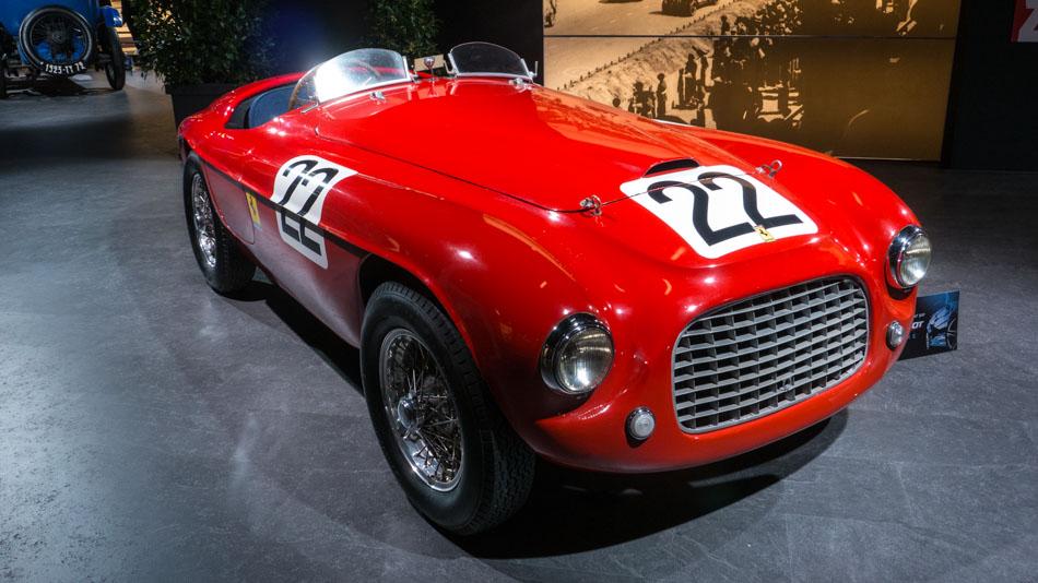 Antique Ferrari sports car used in Le Mans 24-hour race[2 ...