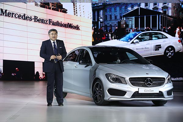 Mercedes all new cla debut at china fashion week for Mercedes benz salesman requirements