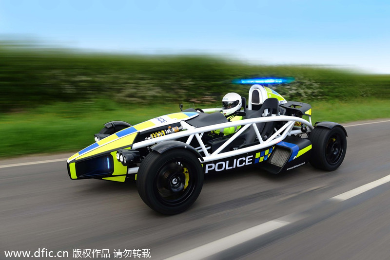 Aerial atom car is claimed to be the world s fastest police car