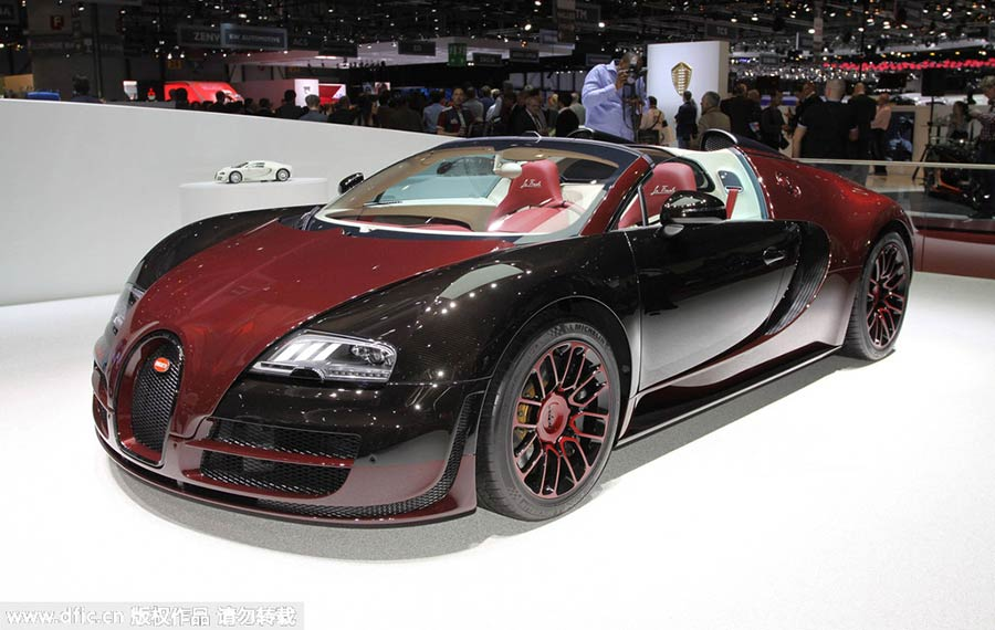 Bugatti Veyron 16.4 Grand Sport Vitesse La Finale Makes Its World Premiere  At The 85th Geneva International Motor Show On Mar 4, 2015.