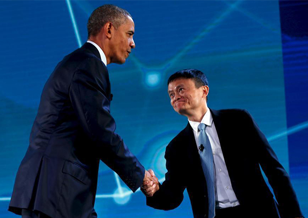 Shunning protocol, Obama interviews Alibaba billionaire Jack Ma[1]