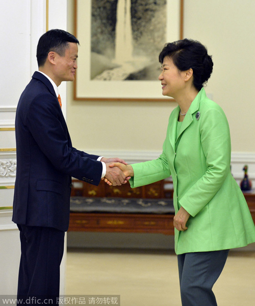 S. Korean president meets with Alibaba's Ma