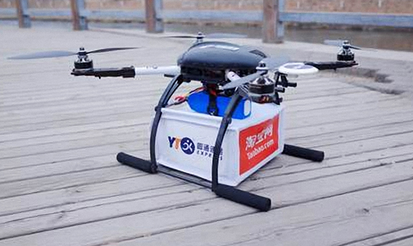 Drones taking to the air in test for delivery services