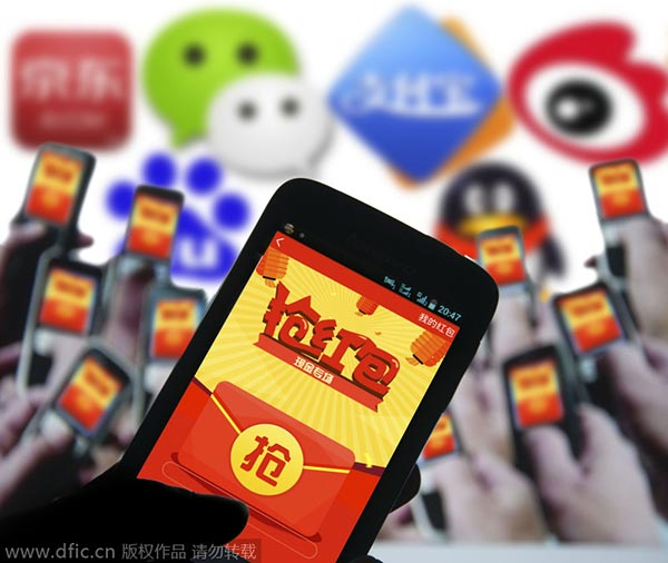 Over 100m people exchange mobile 'lucky money' for Chinese New Year