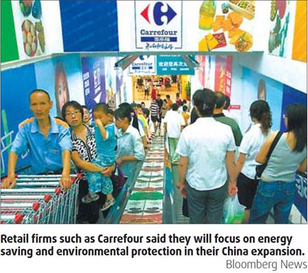 Retailers adopt 'green' plans