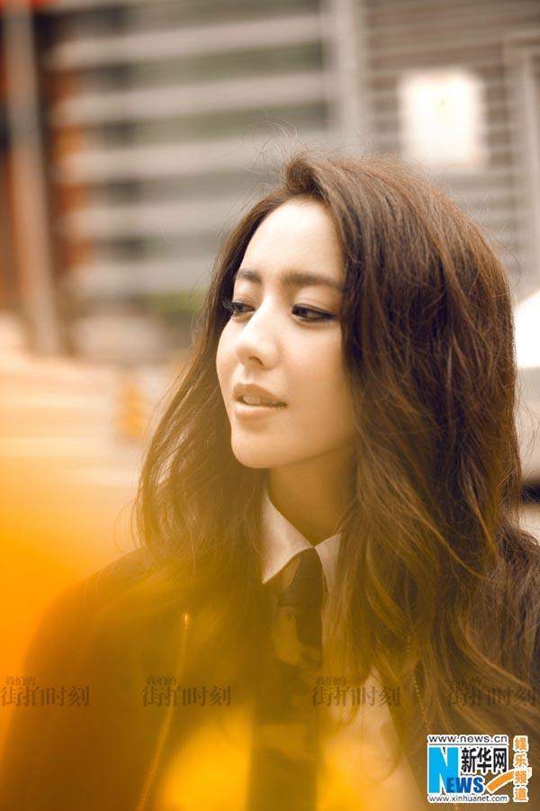 Chinese actress Tong Liya spells elegance in street ...