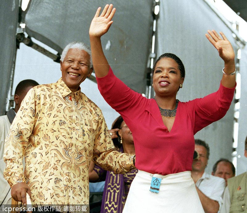 Nelson Mandela and his friends in showbiz[3]- Chinadaily.com.cn